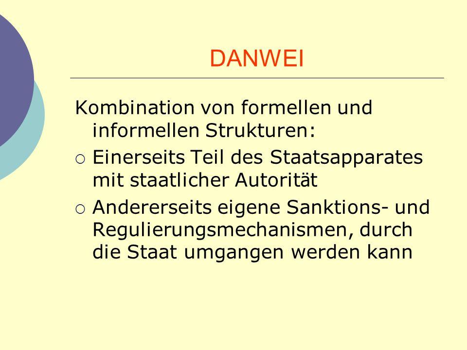 DANWEI Kombination von formellen und informellen Strukturen: