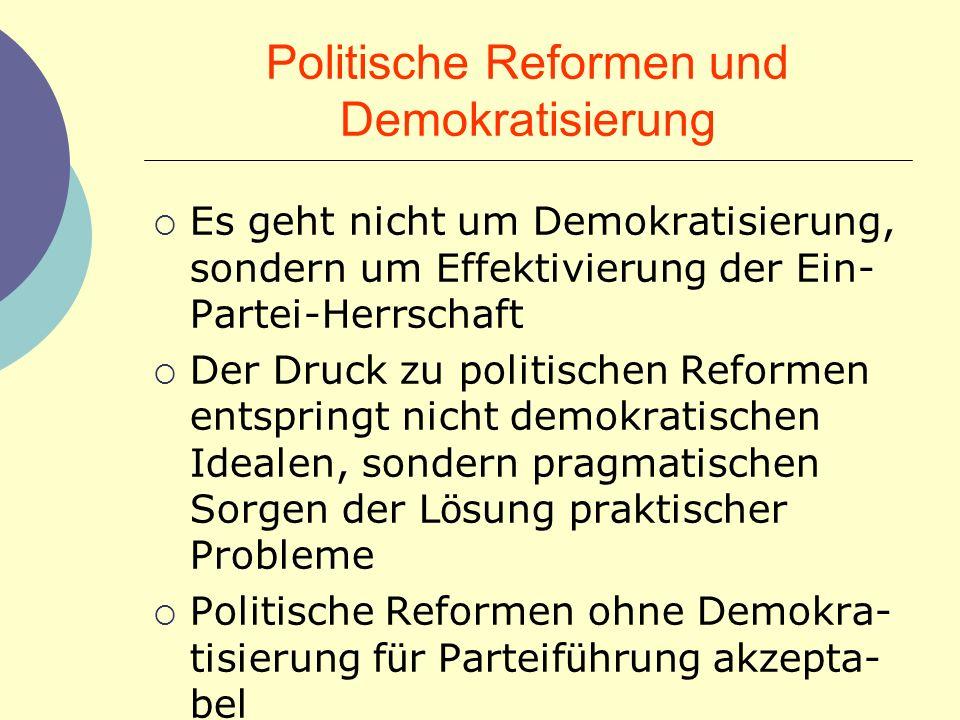 Politische Reformen und Demokratisierung