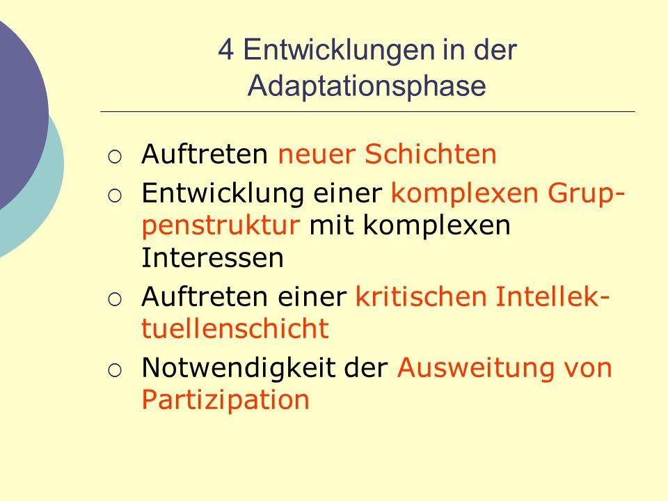4 Entwicklungen in der Adaptationsphase