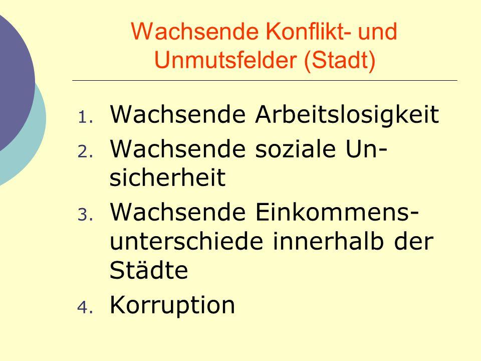 Wachsende Konflikt- und Unmutsfelder (Stadt)