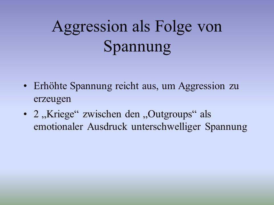 Aggression als Folge von Spannung