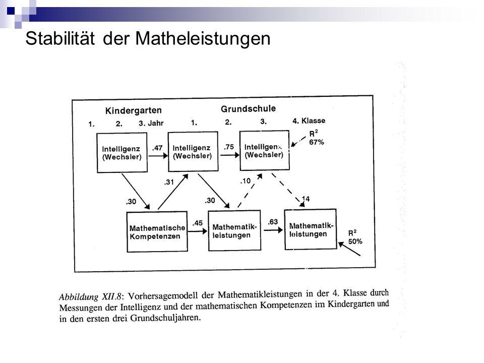 Stabilität der Matheleistungen