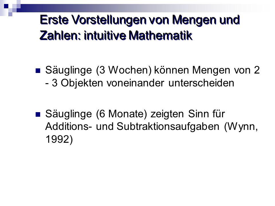 Erste Vorstellungen von Mengen und Zahlen: intuitive Mathematik