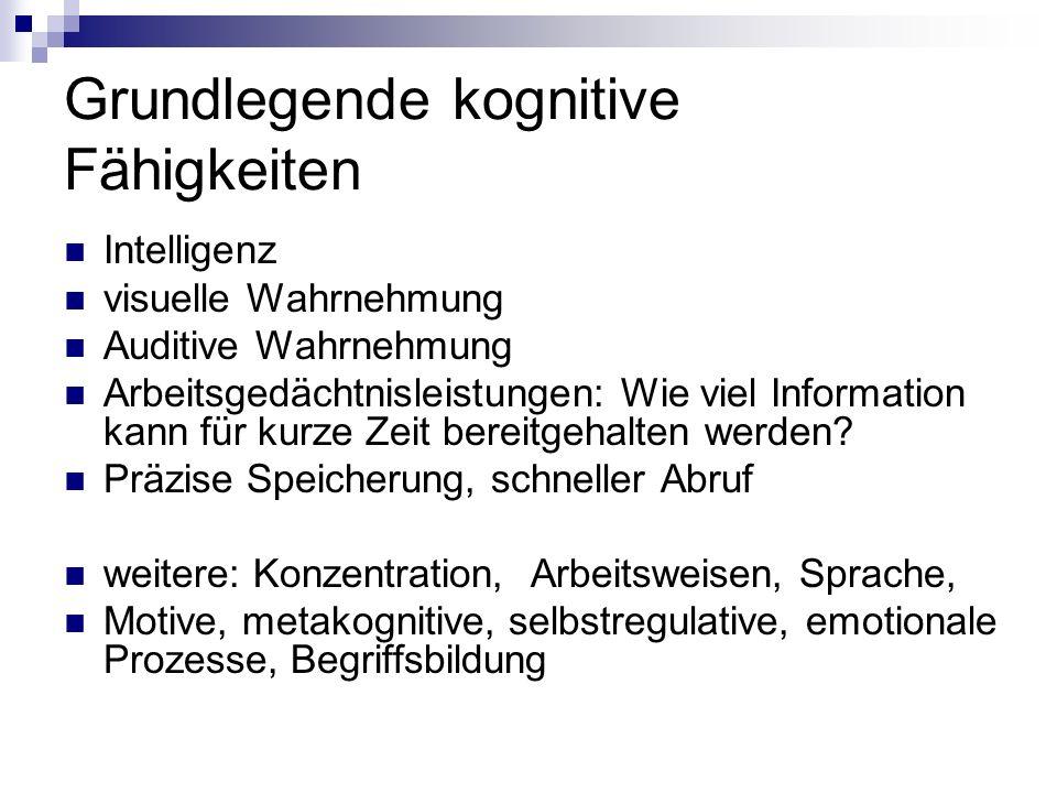 Grundlegende kognitive Fähigkeiten