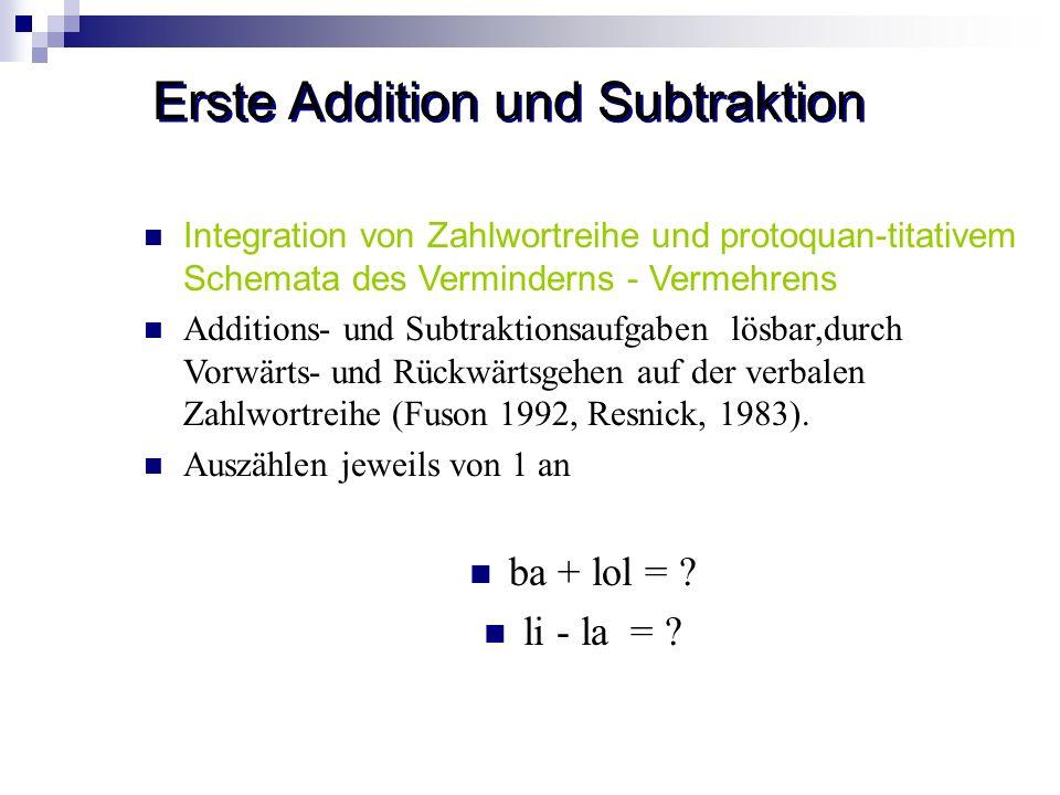 Erste Addition und Subtraktion