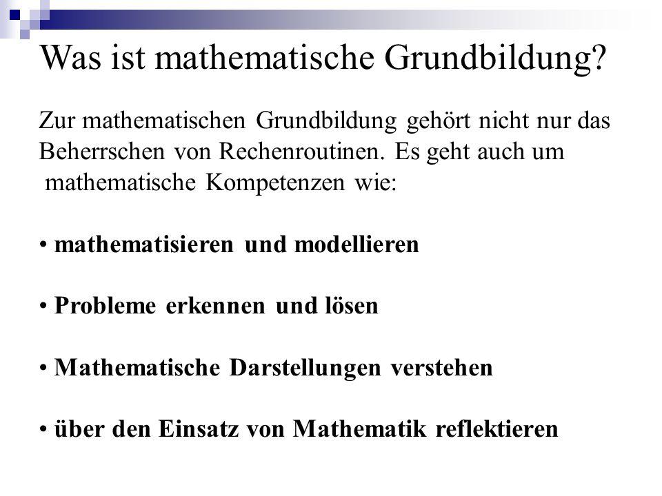 Was ist mathematische Grundbildung