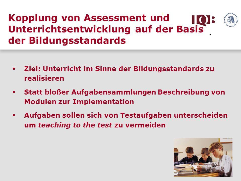 Kopplung von Assessment und Unterrichtsentwicklung auf der Basis