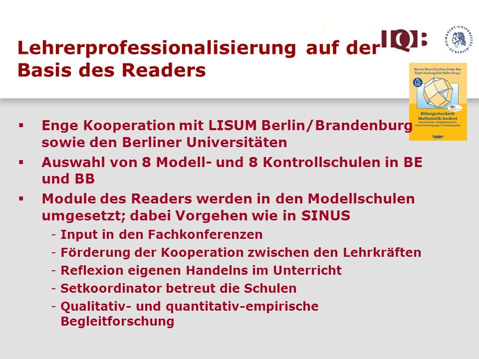 Lehrerprofessionalisierung auf der Basis des Readers