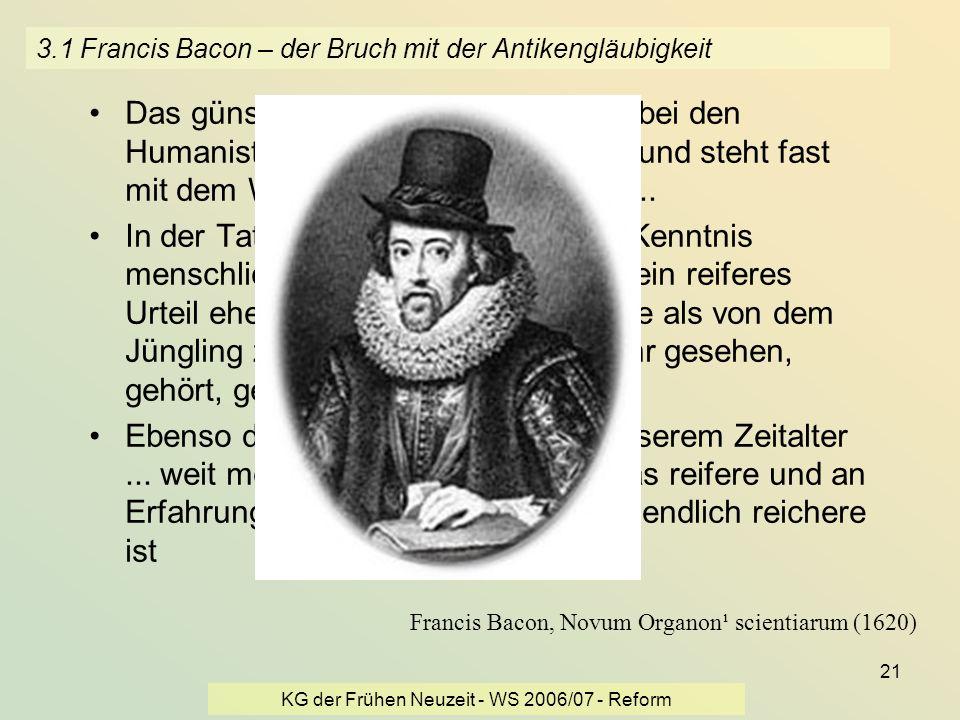 3.1 Francis Bacon – der Bruch mit der Antikengläubigkeit