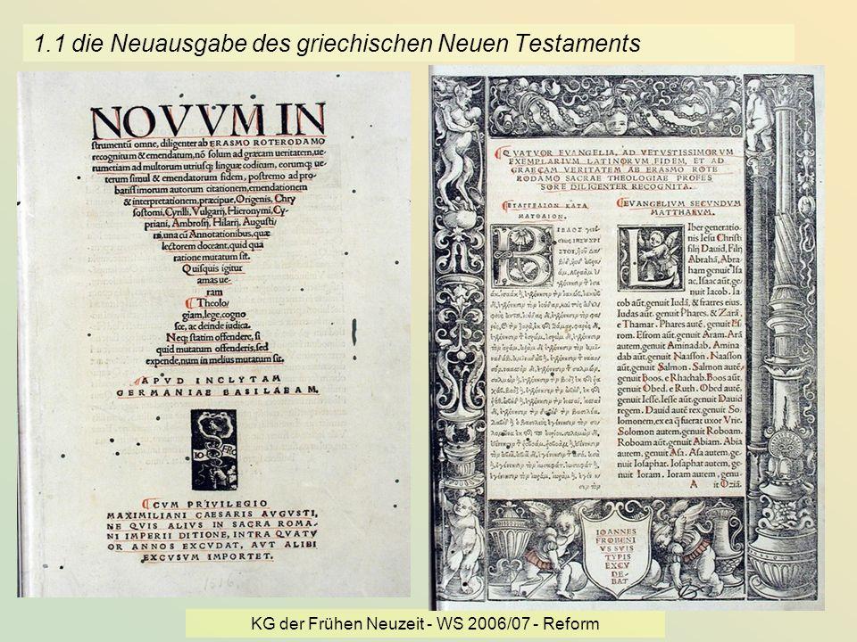 1.1 die Neuausgabe des griechischen Neuen Testaments