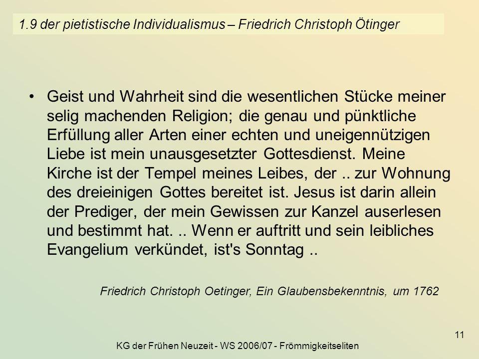 1.9 der pietistische Individualismus – Friedrich Christoph Ötinger
