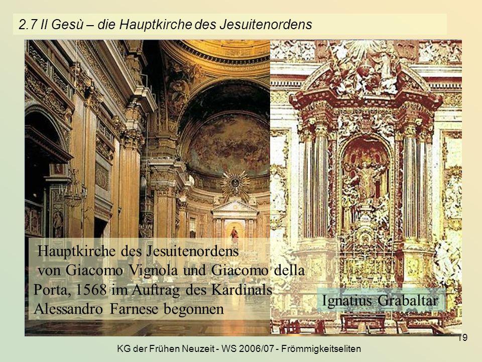 2.7 Il Gesù – die Hauptkirche des Jesuitenordens