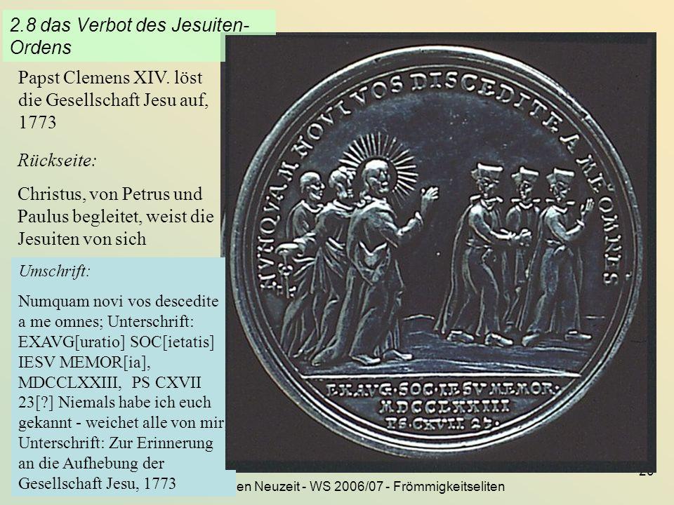 2.8 das Verbot des Jesuiten-Ordens