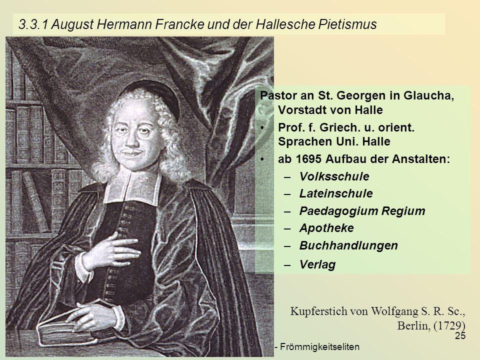 3.3.1 August Hermann Francke und der Hallesche Pietismus