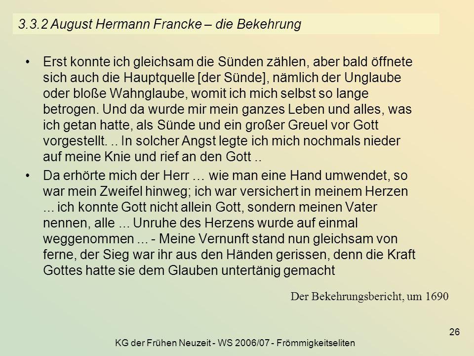 3.3.2 August Hermann Francke – die Bekehrung