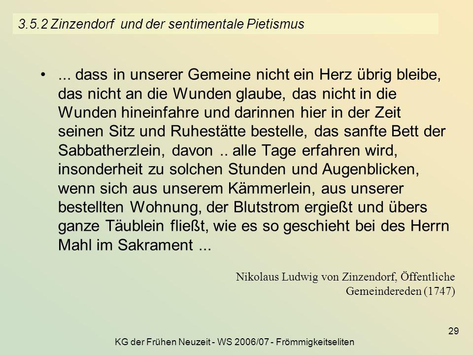 3.5.2 Zinzendorf und der sentimentale Pietismus
