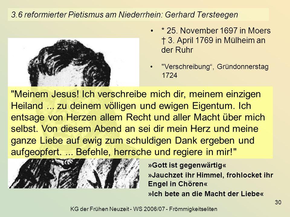 3.6 reformierter Pietismus am Niederrhein: Gerhard Tersteegen