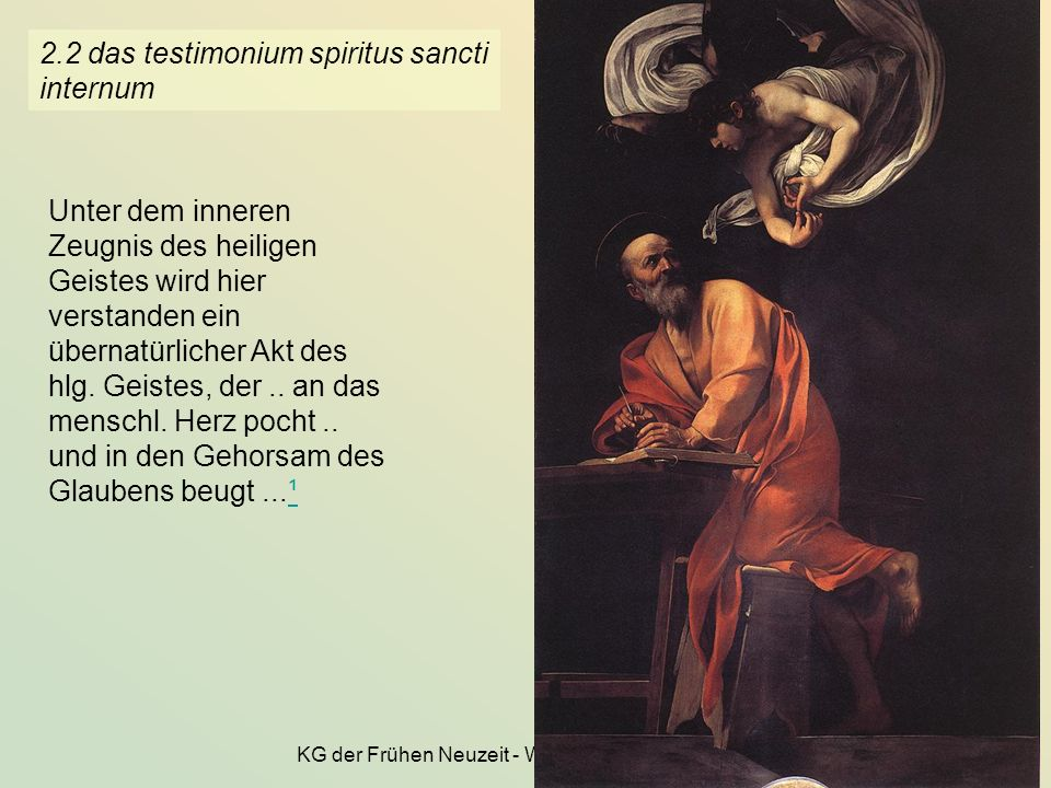 2.2 das testimonium spiritus sancti internum