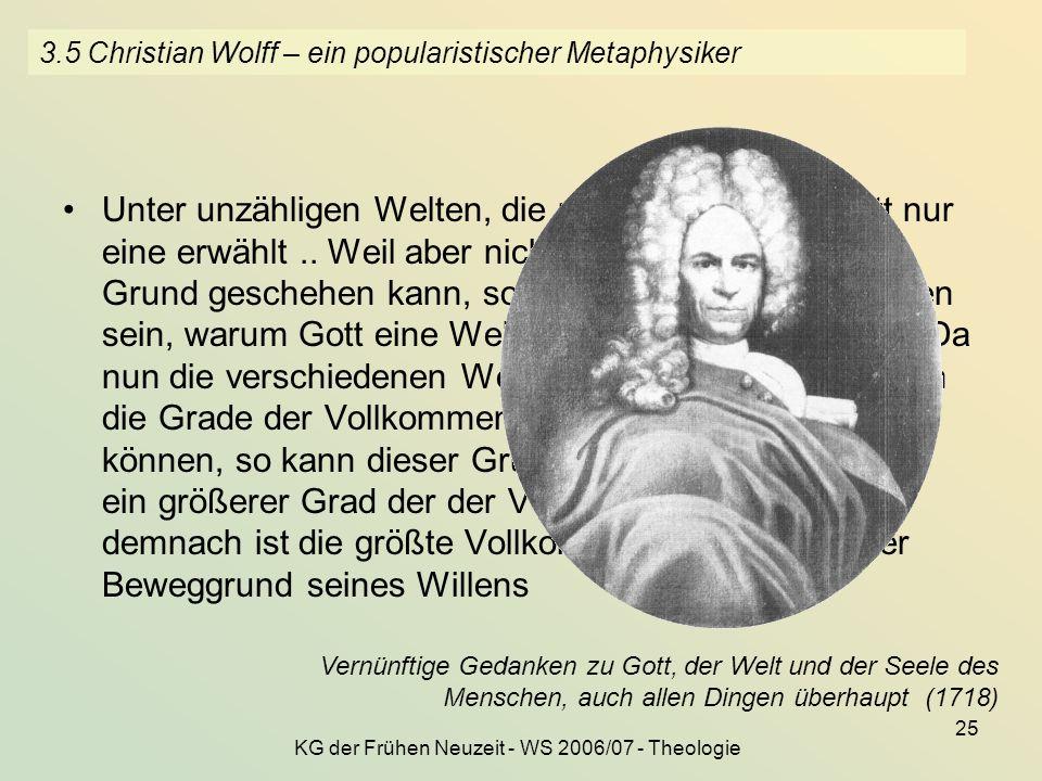 3.5 Christian Wolff – ein popularistischer Metaphysiker