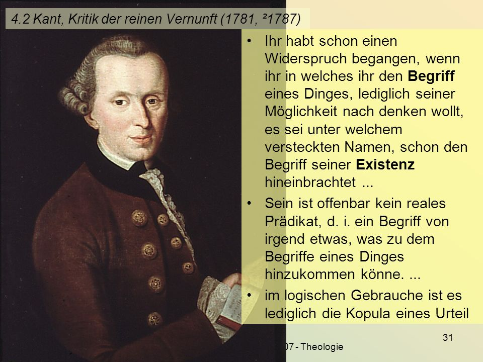 4.2 Kant, Kritik der reinen Vernunft (1781, ²1787)