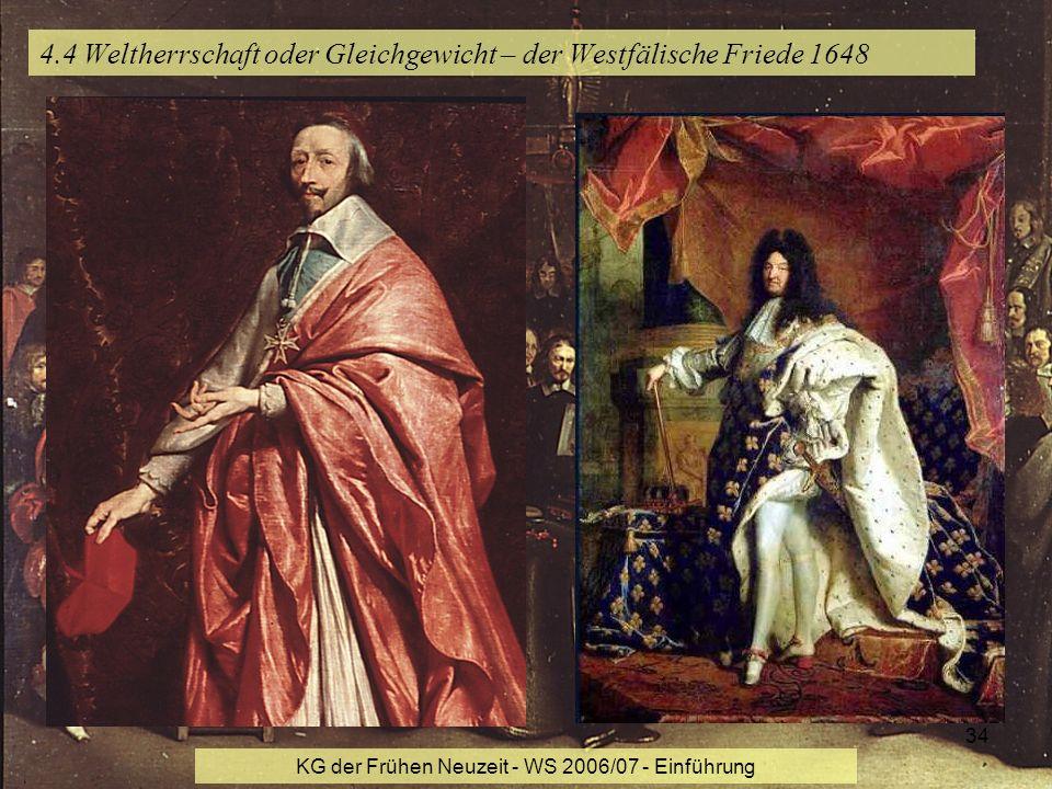 4.4 Weltherrschaft oder Gleichgewicht – der Westfälische Friede 1648
