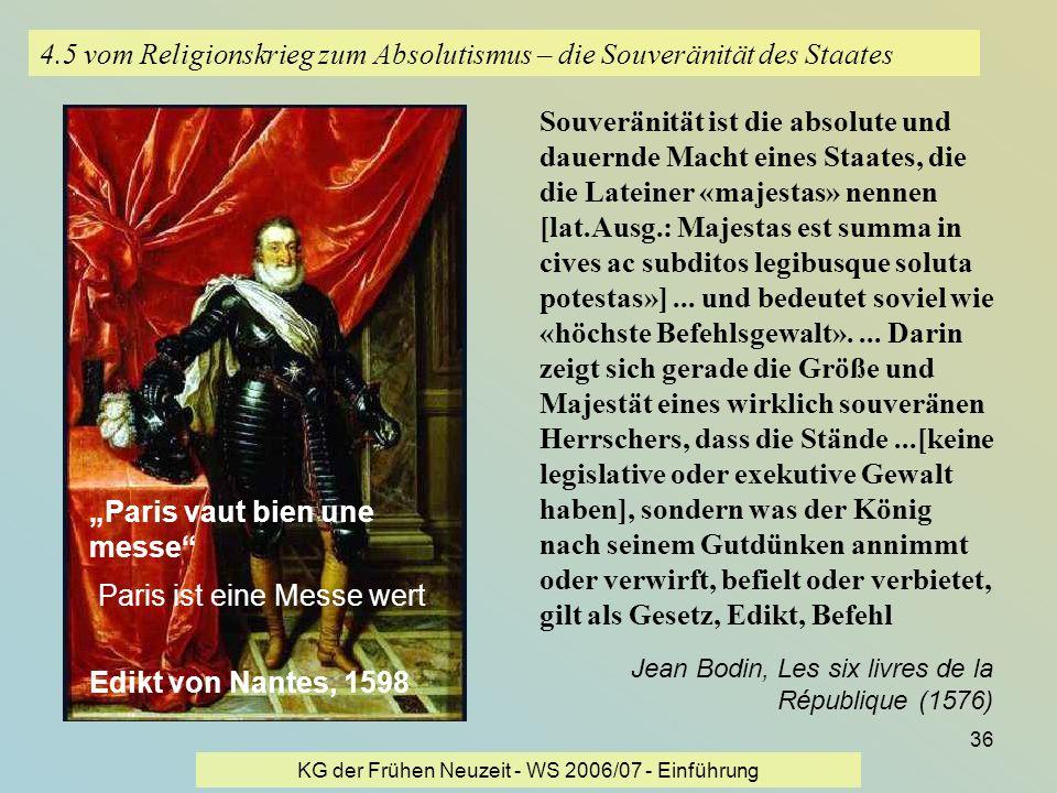 4.5 vom Religionskrieg zum Absolutismus – die Souveränität des Staates