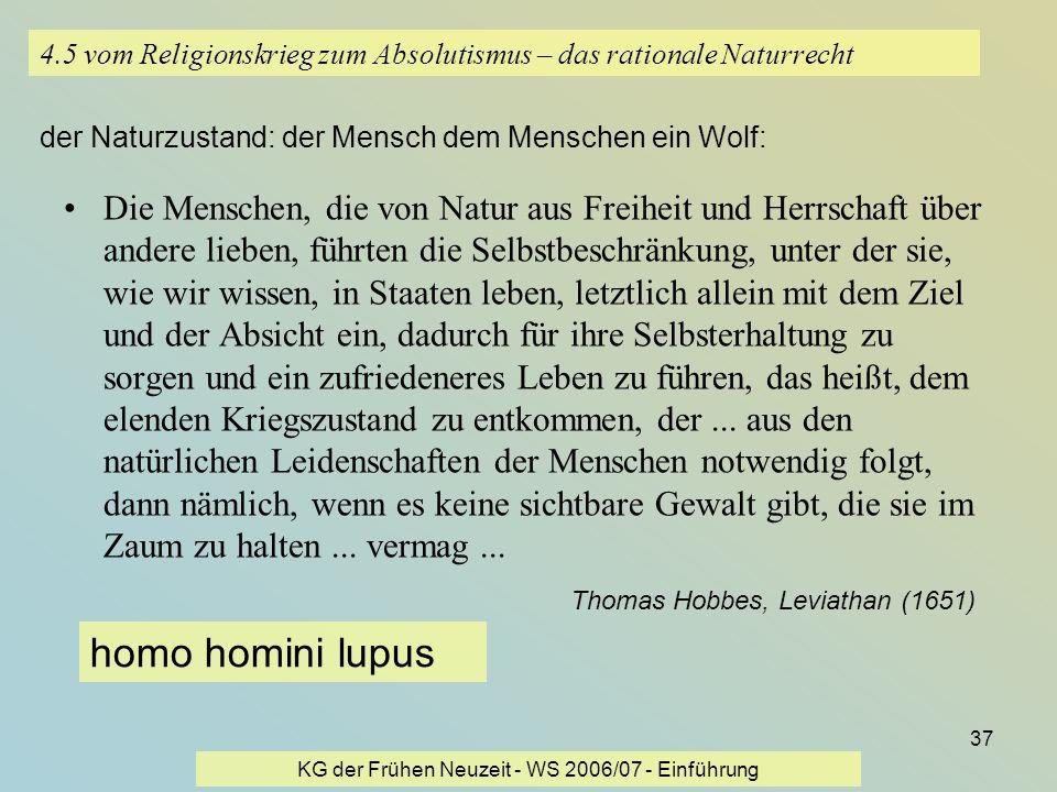 4.5 vom Religionskrieg zum Absolutismus – das rationale Naturrecht