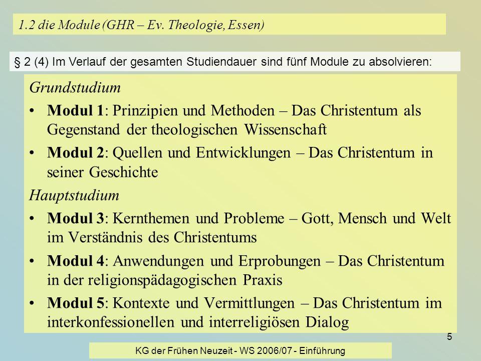 1.2 die Module (GHR – Ev. Theologie, Essen)