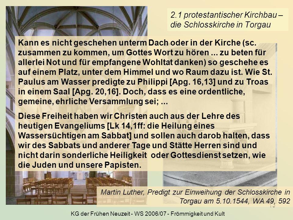 2.1 protestantischer Kirchbau – die Schlosskirche in Torgau