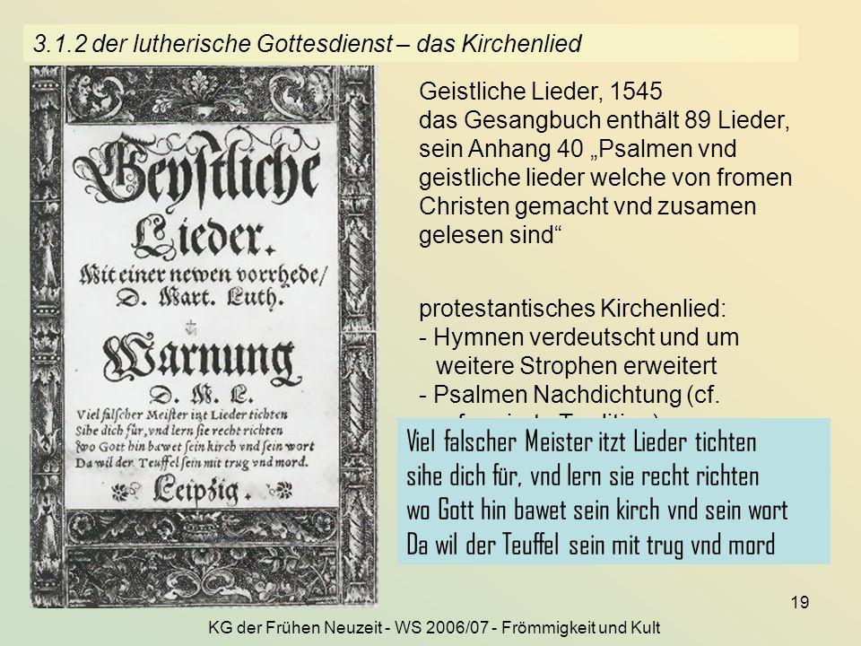 3.1.2 der lutherische Gottesdienst – das Kirchenlied