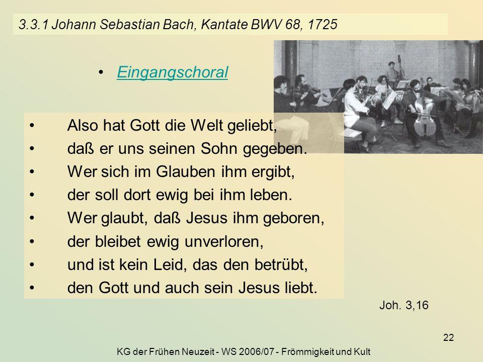 3.3.1 Johann Sebastian Bach, Kantate BWV 68, 1725