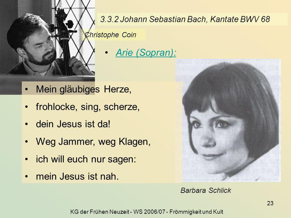 3.3.2 Johann Sebastian Bach, Kantate BWV 68