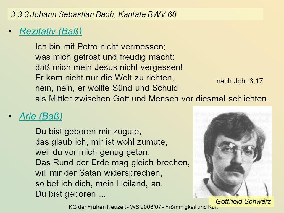 3.3.3 Johann Sebastian Bach, Kantate BWV 68