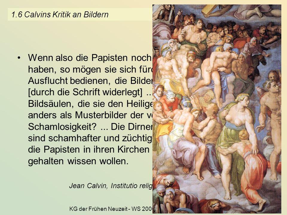 1.6 Calvins Kritik an Bildern