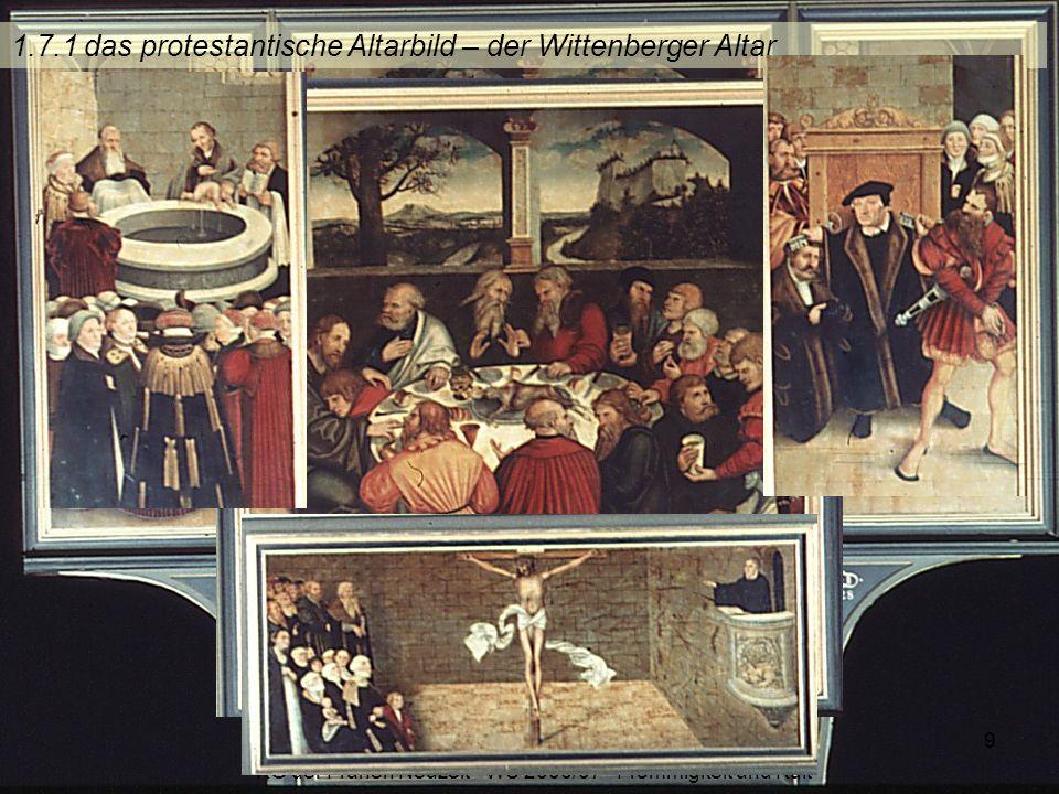 1.7.1 das protestantische Altarbild – der Wittenberger Altar