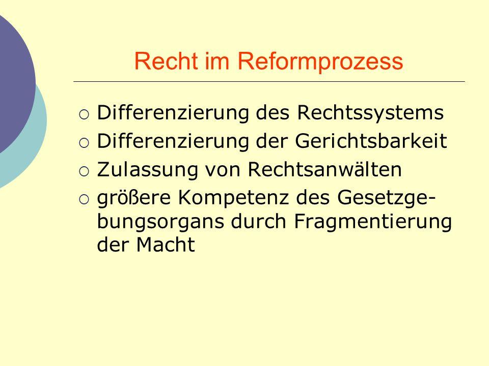 Recht im Reformprozess
