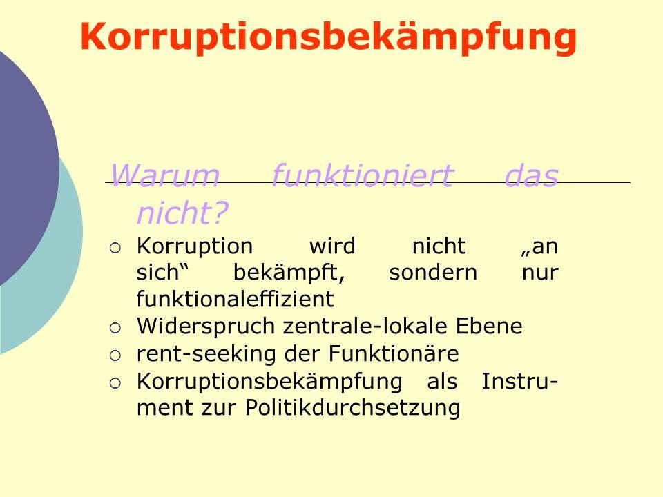 Korruptionsbekämpfung
