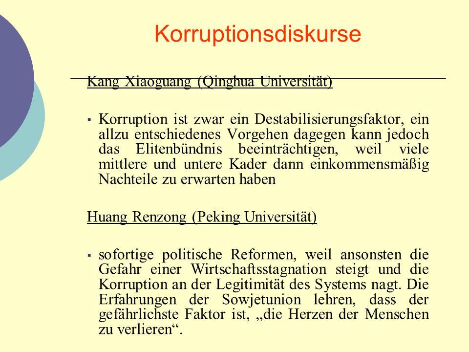 Korruptionsdiskurse Kang Xiaoguang (Qinghua Universität)