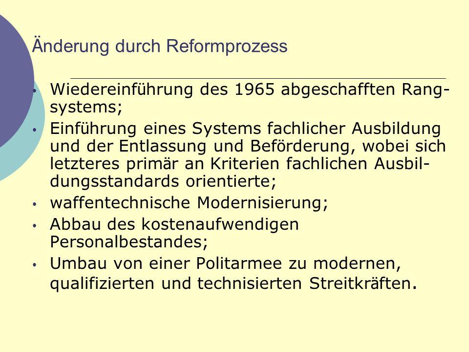 Änderung durch Reformprozess