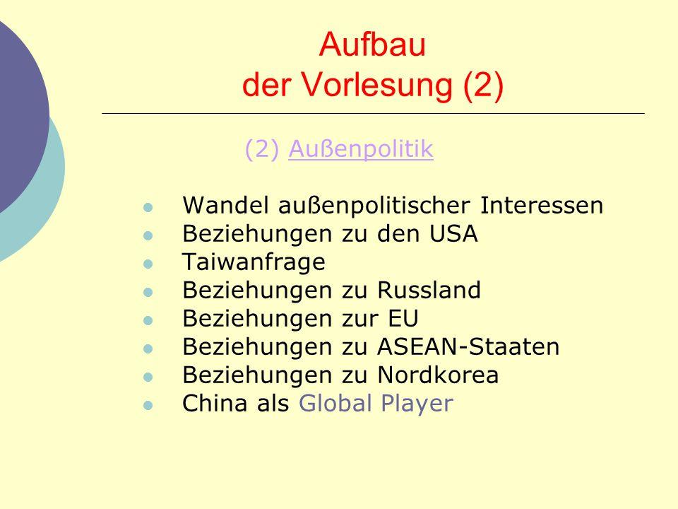 Aufbau der Vorlesung (2)