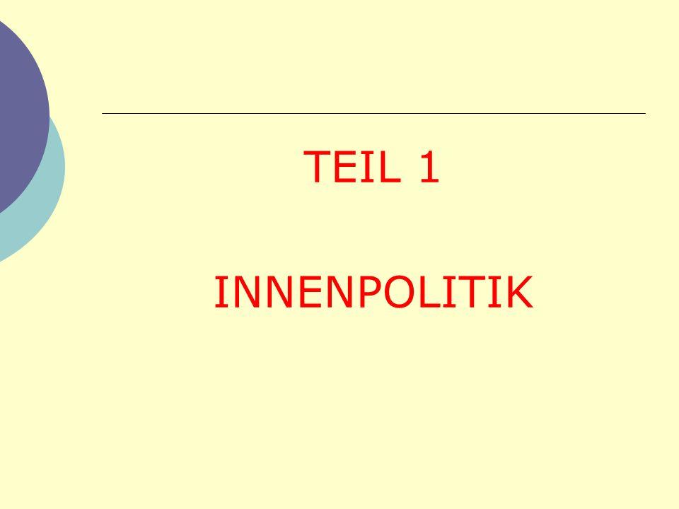 TEIL 1 INNENPOLITIK