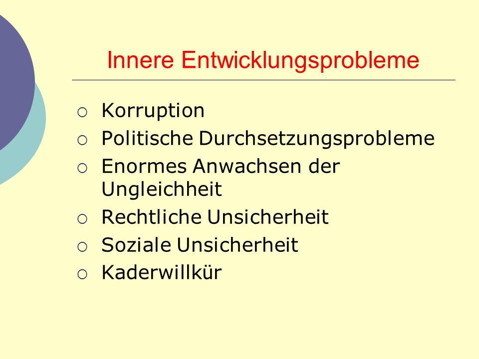 Innere Entwicklungsprobleme