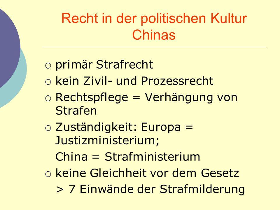 Recht in der politischen Kultur Chinas