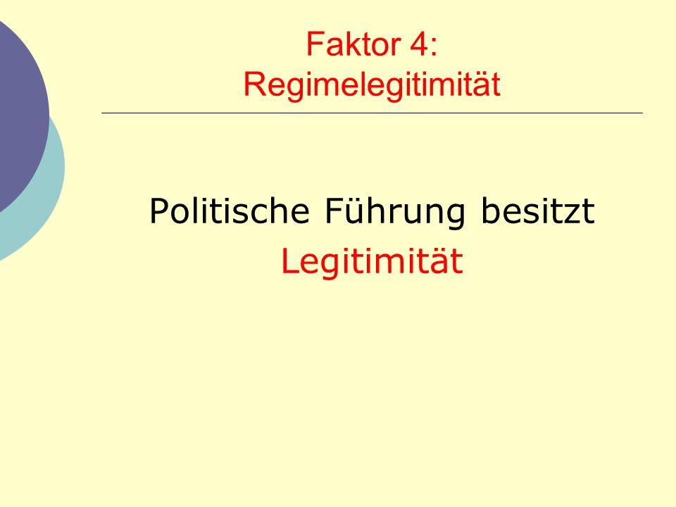 Faktor 4: Regimelegitimität