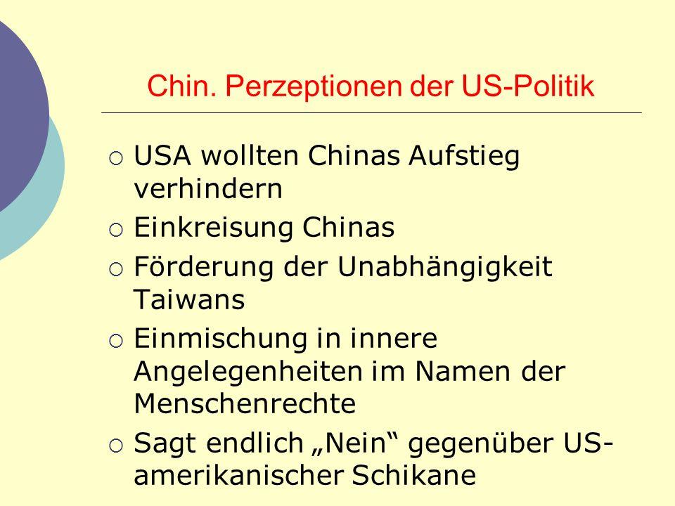 Chin. Perzeptionen der US-Politik