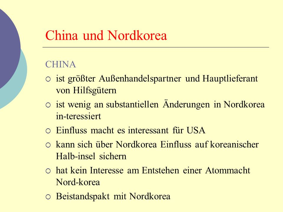China und Nordkorea CHINA