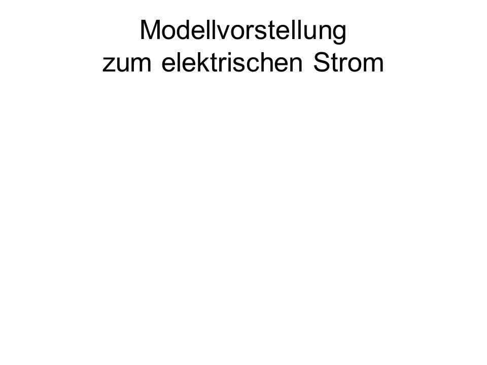 Modellvorstellung zum elektrischen Strom