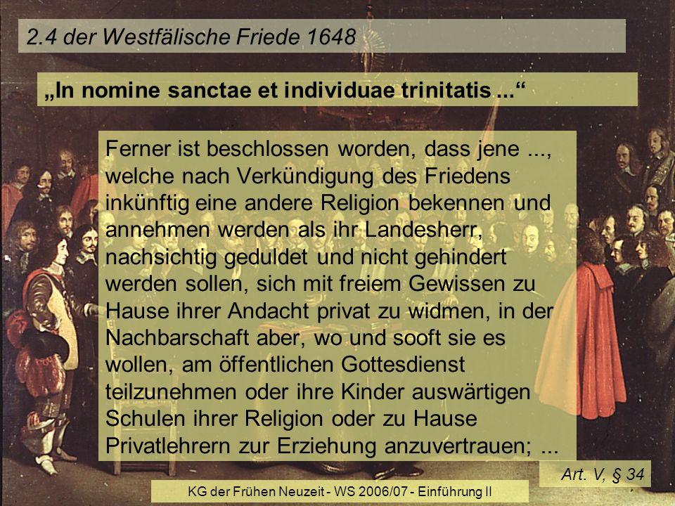 2.4 der Westfälische Friede 1648