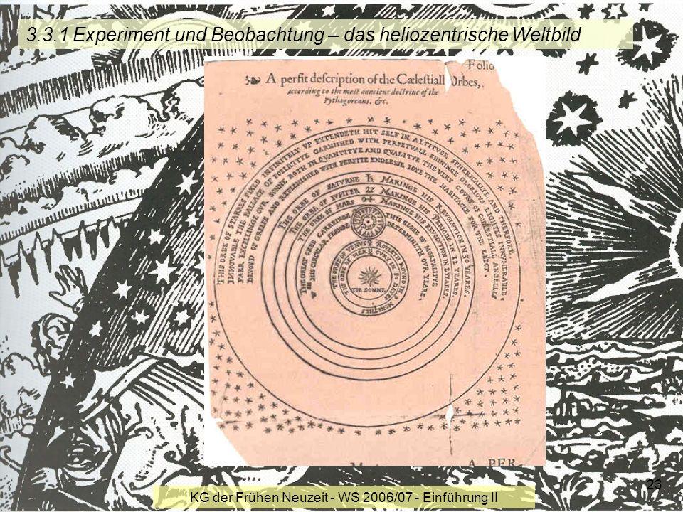 3.3.1 Experiment und Beobachtung – das heliozentrische Weltbild