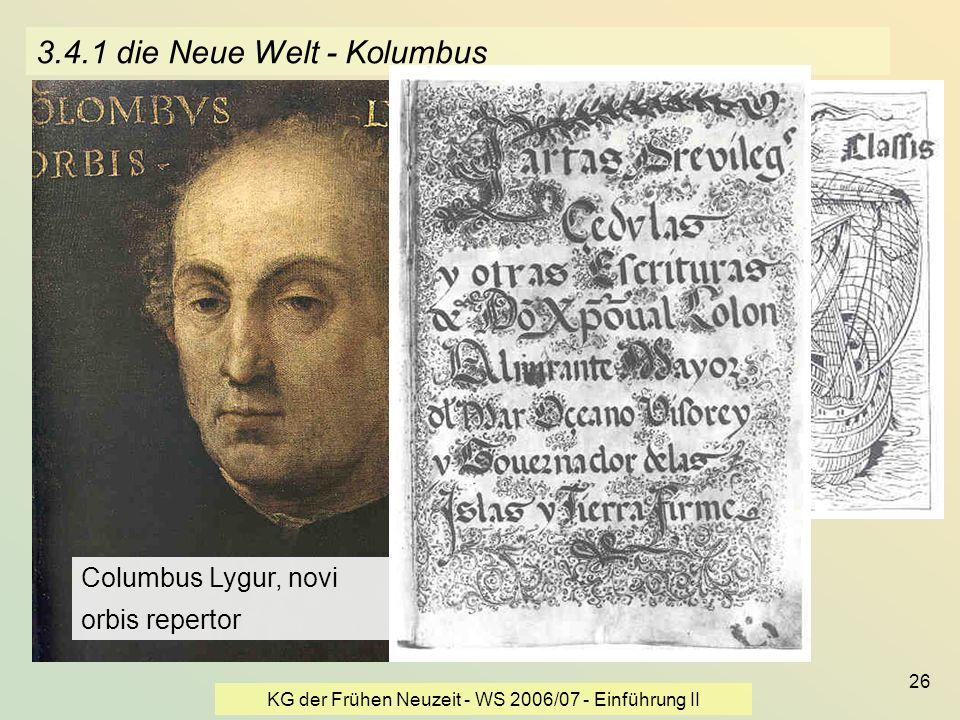 3.4.1 die Neue Welt - Kolumbus